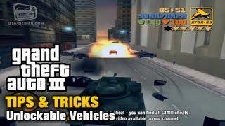 GTA 3 - Tips & Tricks - Unlockable Vehicles