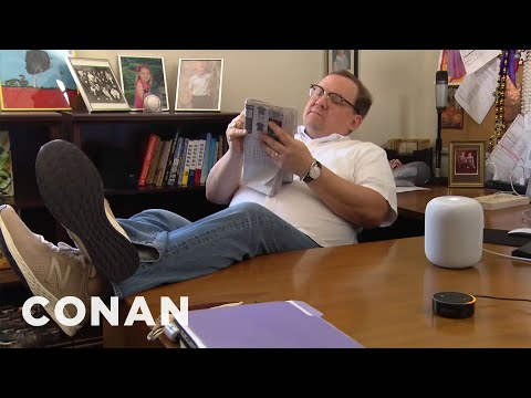 Andy's Apple HomePod Hack  - CONAN on TBS