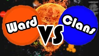 Agario - Ward vs. Clan ( NBK , TyT , ... ) // 27,000 Highscore