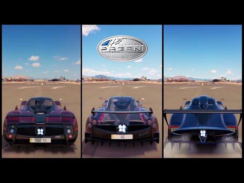 Make Ultimate Battle! | Forza Horizon 3 | Zonda 760 RS vs Huayra BC vs Zonda Revolucion Pics