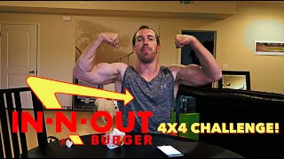 IN-N-OUT 4X4 BURGER CHALLENGE!