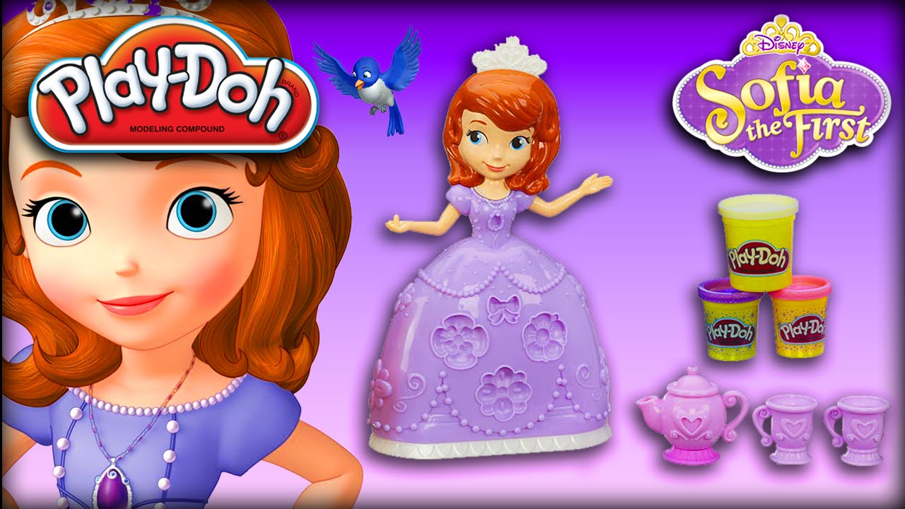 play doh sofia the first tea party  disney sofia the first