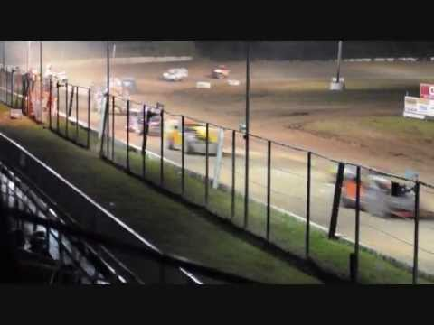 Ricky Davis #43, 13 years old, Albany-Saratoga Speedway Feature #2 6-28-13