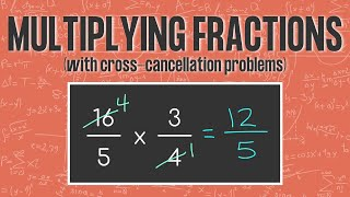FRACTION MULTIPLICATION TRICK Usİng Cross Cancellation