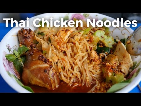 Thai Chicken Noodles (ก๋วยเตี๋ยวไก่) – Street Food Bicycle