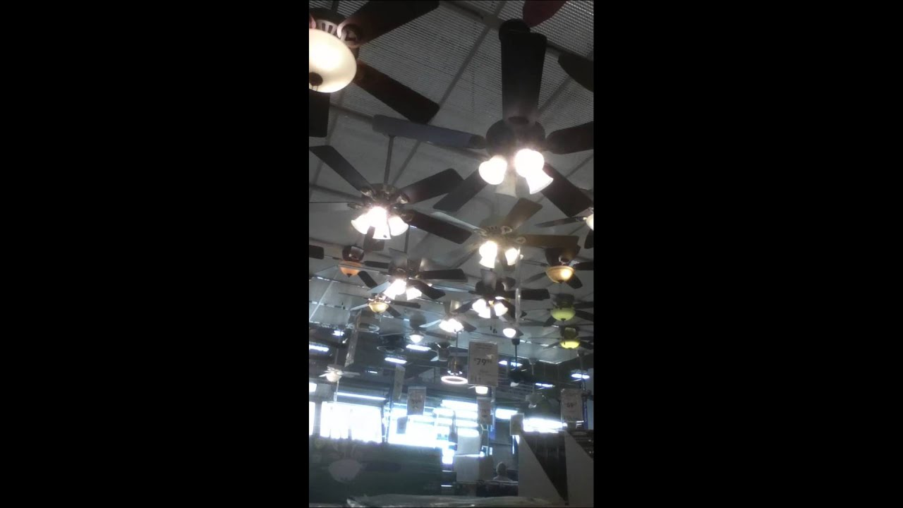 Ceiling fans at lowes youtube aloadofball Image collections