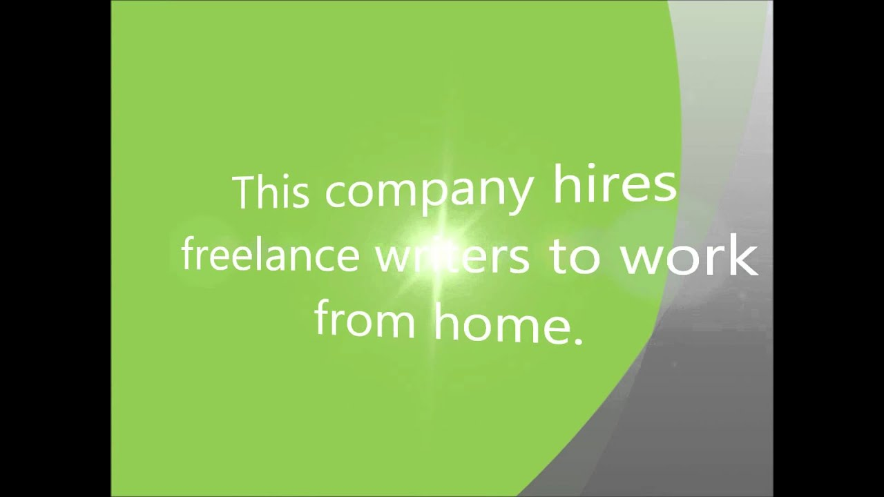 Creative writing jobs from home - YouTube