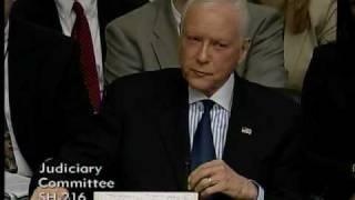 Sen. Hatch Questions Supreme Court Nominee Elena Kagan