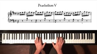 Bach Prelude and Fugue No.5 (Moderate Tempo) Well Tempered Clavier, Book 1 with Harmonic Pedal