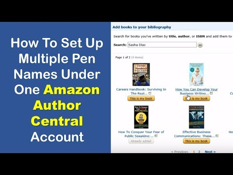 How To Set Up Multiple Pen Names under One Account | Amazon Author Central