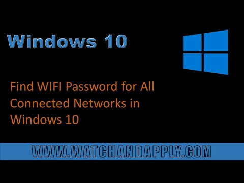 Find WIFI Password for All Connected Networks in Windows 10