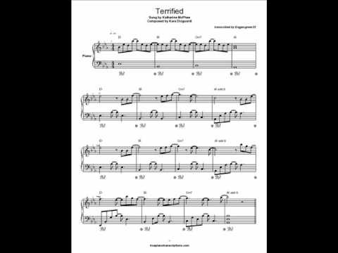Terrified Piano Solo And Sheet Music Youtube