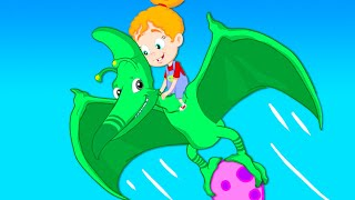 Groovy The Martian - Groovy transforms into a dinosaur to save a dino egg in danger & Nursery Rhyme