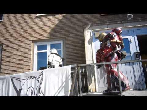 Pilerud's cosplay - Blood Angels Space Marine at KattCon 2013