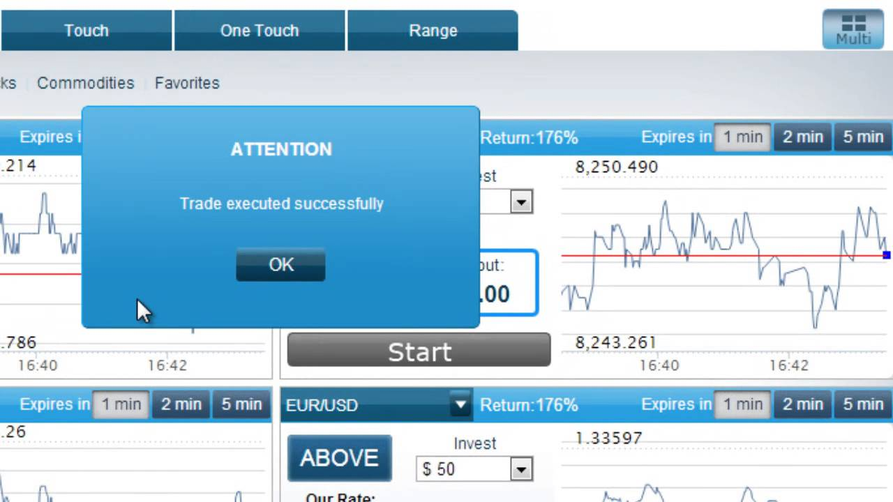 binary options practice trading account