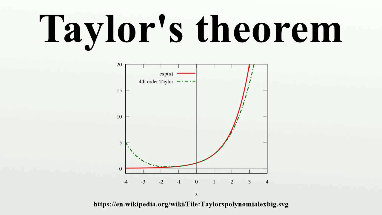 taylors theorem This video lecture taylor's expansion theorem and problem in hindi will help students to understand: 1 proof of theorem 2 importance of theorem 3 two so.