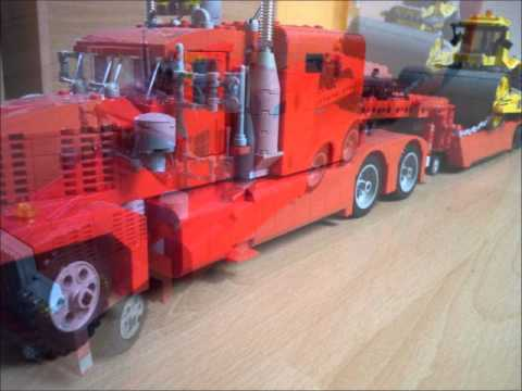 lego technic eigenbau tieflader lkw truck us stye 11. Black Bedroom Furniture Sets. Home Design Ideas