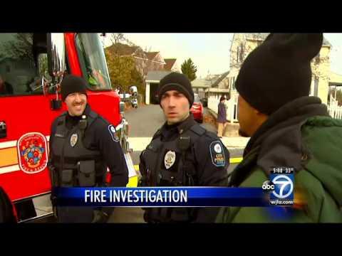 Man tells ABC 7 News crew, 'I set it on fire'