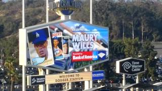 Maury Wills Throws Out Ceremonial 1st Pitch