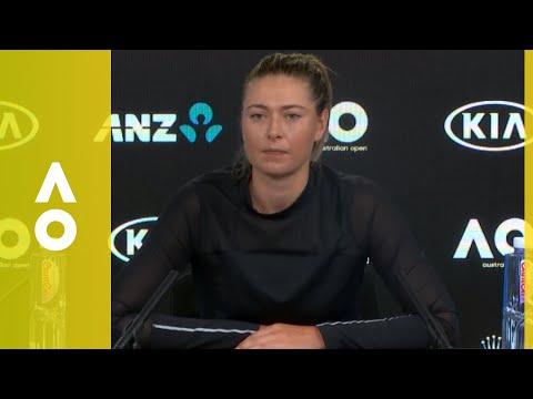 Maria Sharapova press conference 2R  Australian Open 2018