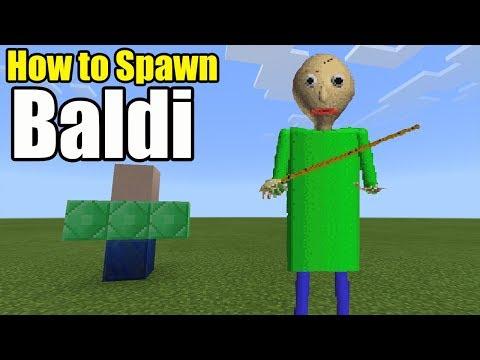 How To Spawn BALDI | Minecraft PE