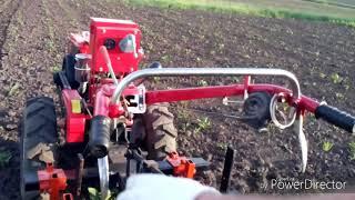 Прополка картофеля тяжелым мотоблоком Форте. Испытание самодельных пропольников и катков грудобоев.