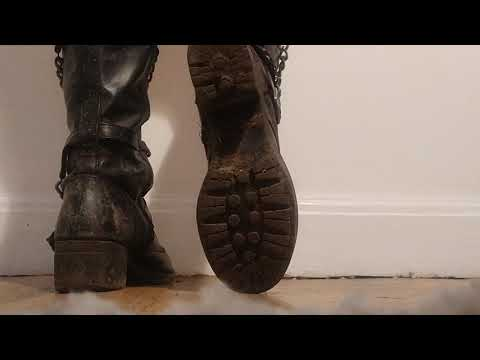 ASMR | Rattling Dirty Leather Boots