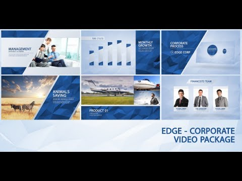 edge - corporate video package (after effects template) - youtube, Powerpoint templates