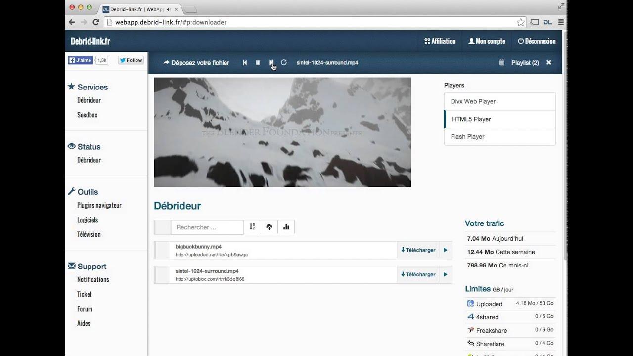 Debrid-Link fr Streaming