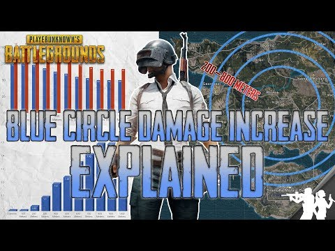 PUBG Blue Circle Damage Increase Over Time Explained | October Update Stats, Percents, Breakdown