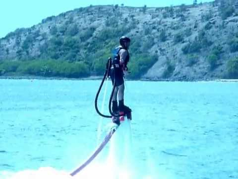 Flyboarding Frank does two flips at St Kitts Island 2/15/13