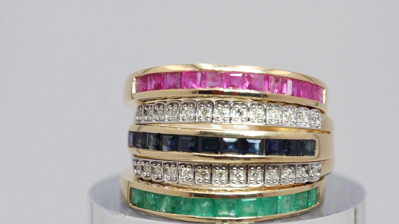 0562e5151b6f Anillo Infinity de oro y gemas preciosas de segunda mano E326298 ...