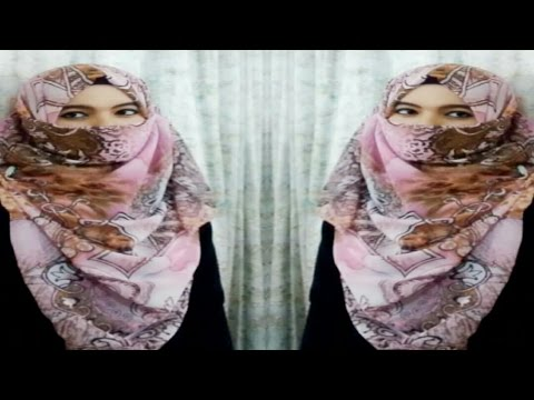 Requested Niqab style with square scarf (full coverage) ||Farzana Alin||