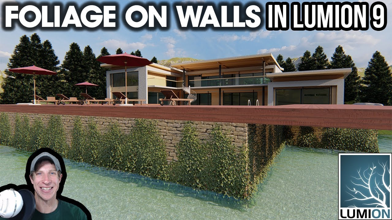 Adding FOLIAGE ON WALLS in Lumion 9 - The Rendering Essentials
