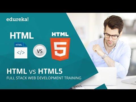 HTML vs HTML5 | Difference between HTML and HTML5 | HTML Tutorial | Edureka thumbnail