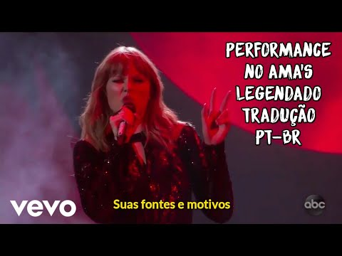 Performance de I Did Something Bad, da Taylor Swift, no AMA's 2018 (Legendado/Tradução) (PT-BR)