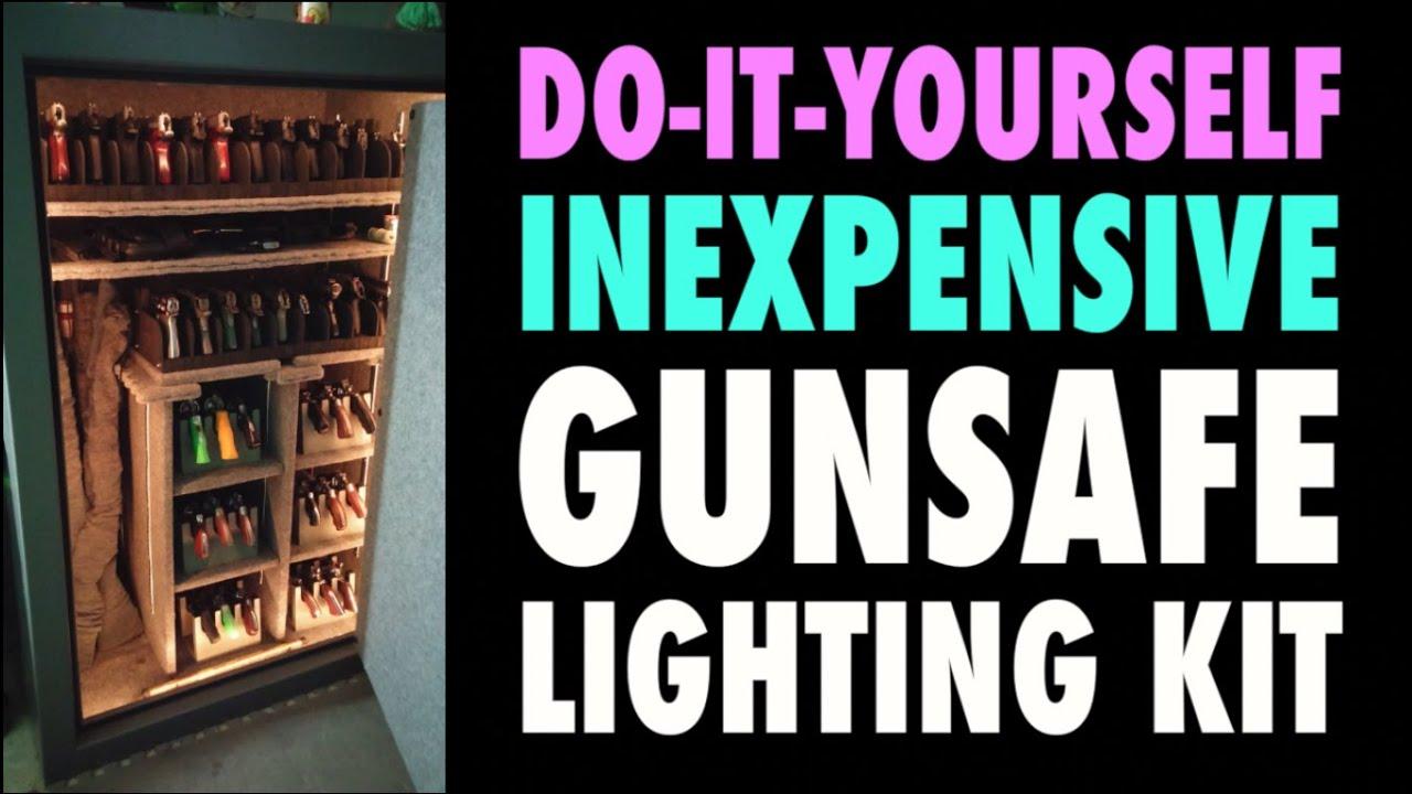 Diy Cheap Gunsafe Lighting Youtube