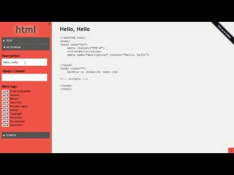 HTML-now | Fast, Online HTML Template Generator
