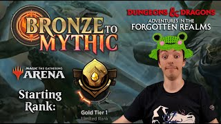 🥇 MTG Arena: Bronze To Mythic: Episode 7 - Starting Rank: Gold 1 (Limited: Forgotten Realms Draft)