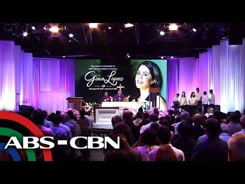 Labi ni Gina Lopez, sinalubong ng mga Kapamilya sa memorial service sa ABS-CBN | UKG