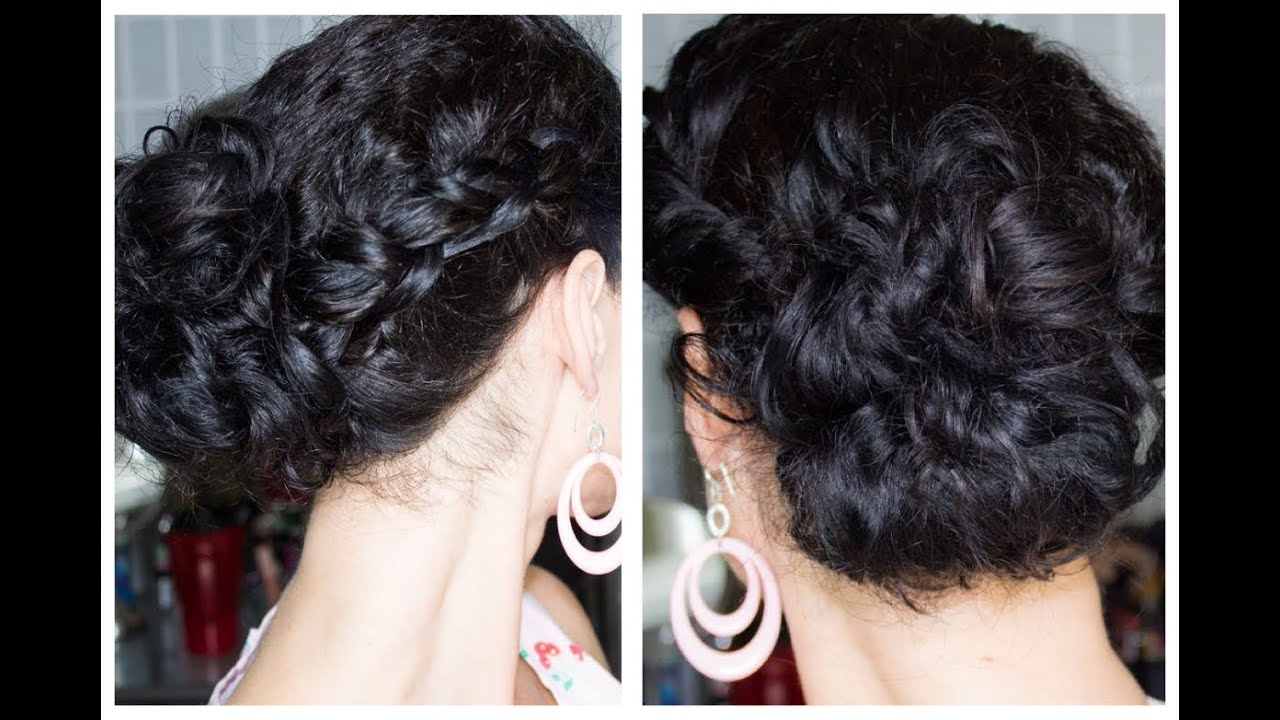 Quick And Easy Updo Perfect For Naturally Curly Hair