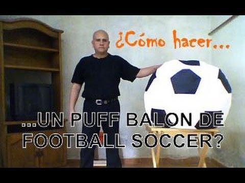 C mo hacer un sill n puff bal n soccer nuevo canal - Como rellenar un puff ...