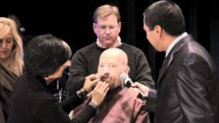 Bryan Cranston shaves his head - The After After Party BTS
