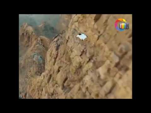 My Movie Awesome Sense of flying I Man flies by wearing wingsuit jumps from the top hill