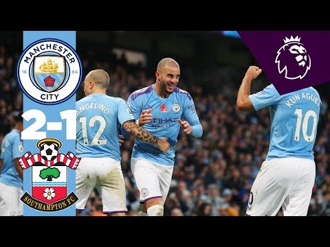 HIGHLIGHTS | Man City 2-1 Southampton | Aguero, Walker
