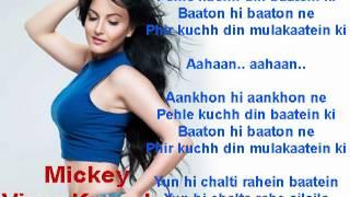 Aankhon Hi Aankhon Ne - Mickey Virus - Karaoke