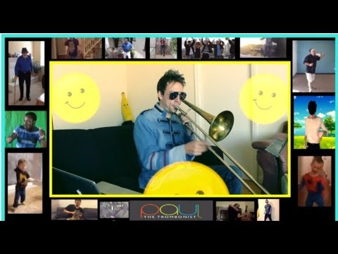 Pharrell Williams - Happy: Trombone Loop (fast version) - Pharrell Williams Cover