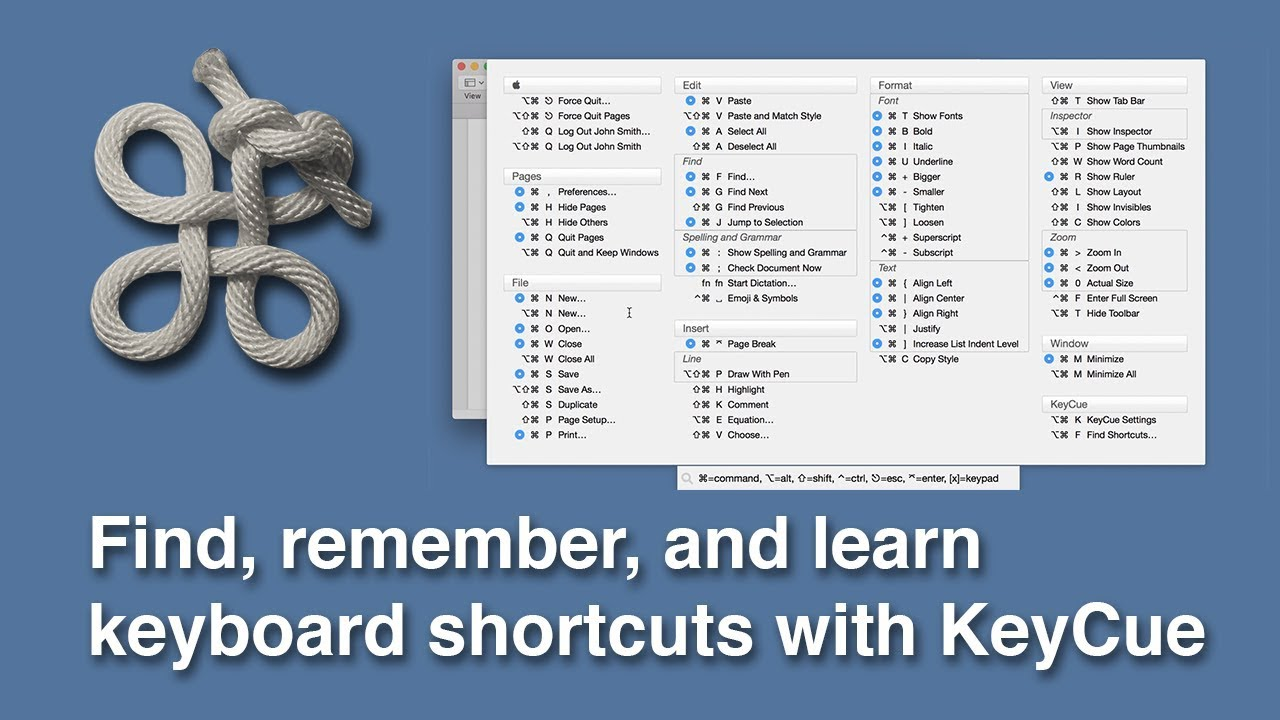 KeyCue: Find, remember, and learn keyboard shortcuts