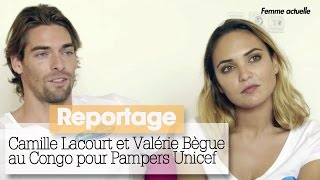 Camille Lacourt et Valérie Bègue aux côtés de l'Unicef au Congo