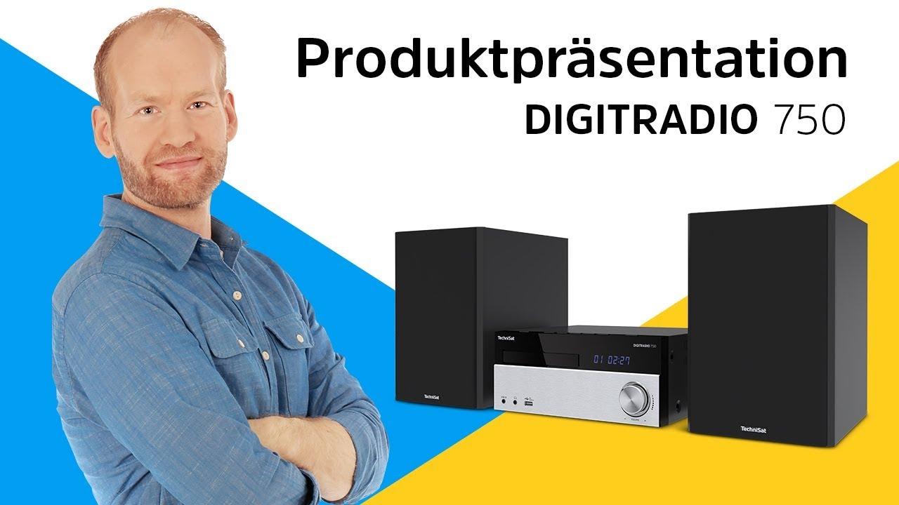 Video: DIGITRADIO 750 | DAB+/UKW/CD Mikro-Hi-Fi-System mit Bluetooth-Audiostreaming. | TechniSat